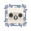 Gniazdo antenowe Kontakt-Simon Simon 10 CASK.01/41 RTV-SAT końcowe kremowe