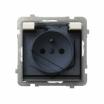 Gniazdo hermetyczne Ospel Sonata GPH-1RZ/m/27/d z uziemieniem IP44 ecru