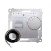 Regulator temperatury Kontakt-Simon 54 DRT10Z.02/43 podłogowy z czujnikiem zewnętrznym 3m srebrny mat