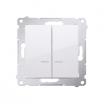 Łącznik świecznikowy Kontakt-Simon 54 DW5BL.01/11 z podświetleniem z wkładką DU1W do wersji IP44 biały