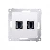 Gniazdo HDMI Kontakt-Simon Simon 54 DGHDMI2.01/11 podwójne białe