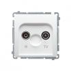 Gniazdo antenowe Kontakt-Simon Basic BMZAR1/1.01/11 R-TV końcowe białe