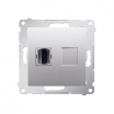 Gniazdo HDMI Kontakt-Simon Simon 54 DGHDMI.01/43 pojedyncze srebrny mat