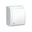 Przycisk światło hermetyczny Kontakt-Simon Aquarius AQS1L/11 natynkowy IP54 z podświetleniem biały