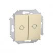 Kontak Siomn Łącznik roletowy (moduł) Simon 15 1591332-030 10A, zaciski śrubowe, biały