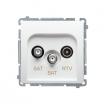 Gniazdo antenowe Kontakt-Simon Basic BMZAR+SAT3.1-P2.01/11 SAT-SAT-RTV końcowe białe