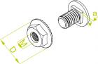 Śruba z łbem grzybkowym + nakrętka kołnierzowa ząbkowana SGK M6x20 903100 /100szt,/ Baks