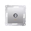 Gniazdo antenowe Kontakt-Simon 54 DASF1.01/43 pojedyncze SAT typu F srebrny mat