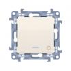 Przycisk światło Kontakt-Simon 10 CS1L.01/41 z podświetleniem LED kremowy