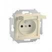 Gniazdo hermetyczne Kontakt-Simon 15 1591950-031 z uziemieniem IP44 z przesłonami z klapką beżową beżowe
