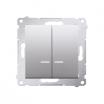 Łącznik świecznikowy Kontakt-Simon 54 DW5BL.01/43 z podświetleniem z wkładką DU1W do wersji IP44 srebrny mat