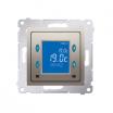 Regulator temperatury Kontakt-Simon 54 D75816.01/44 z wyświetlaczem z czujnikiem wewnętrznym złoty mat