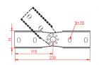 Łącznik przegubowy drabin LGCH60N 461301 Baks