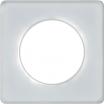 Ramka pojedyncza Schneider Odace Touch S52P802R szklana biel