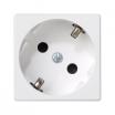 Gniazdo pojedyncze Kontakt-Simon Connect K11/9 K45 45x45mm z uziemieniem schuko białe