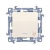 Przycisk dzwonek Kontakt-Simon 10 CD1L.01/41 z podświetleniem LED kremowy