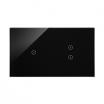 Panel dotykowy Kontakt-Simon 54 Touch DSTR213/73 dwa moduły jedno pole dotykowe dwa pola dotykowe pionowe zastygła lawa