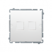 Pokrywa gniazda teleinformatycznego Kontakt-Simon Classic BMPT/11 płaska podwójna do modułów Keystone