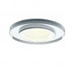 Milagro EKOS204 oczko oprawa stropowa okrągła szklana GU10 MR16 srebrna