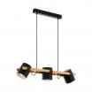 Eglo Hornwood 43045 lampa wisząca zwis 3x60W E27, czarna
