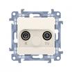Gniazdo antenowe Kontakt-Simon Simon 10 CAK.01/41 R-TV końcowe separowane kremowe