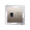 Gniazdo HDMI Kontakt-Simon Simon 54 DGHDMI.01/44 pojedyncze złoty mat