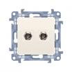 Gniazdo antenowe Kontakt-Simon Simon 10 CASF2.01/41 typu F podwójne kremowe