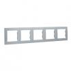 Ramka pięciokrotna Kontakt-Simon 15 1501650-026 aluminium metalizowane