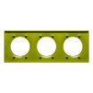 Ramka potrójna Schneider Odace Styl S52P706H verde seledynowa