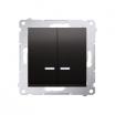 Łącznik świecznikowy Kontakt-Simon 54 DW5BL.01/48 z podświetleniem z wkładką DU1W do wersji IP44 antracyt