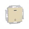 Przycisk dzwonek Kontakt-Simon 15 1591162-031 z podświetleniem beżowy
