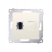 Gniazdo HDMI Kontakt-Simon Simon 54 DGHDMI.01/41 pojedyncze kremowe
