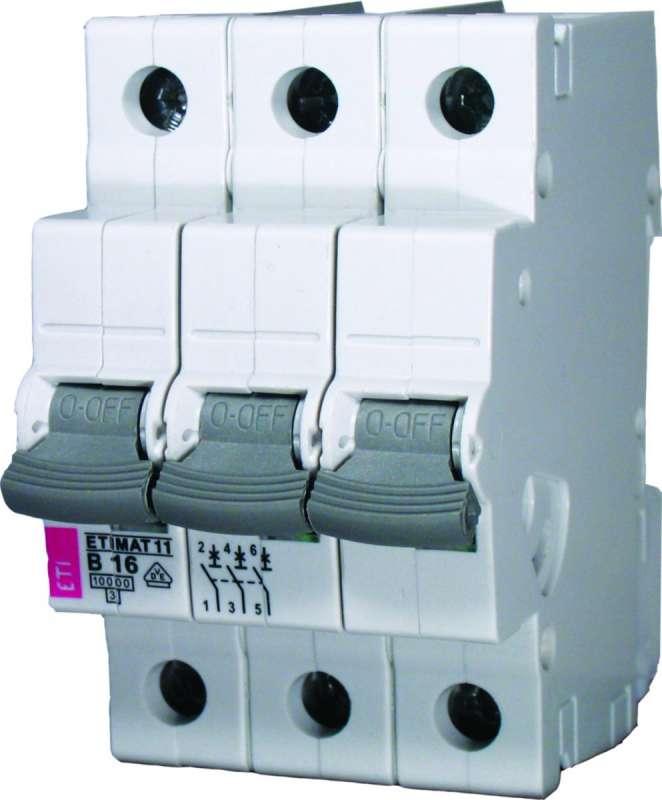 Wyłącznik nadmiarowy ETI 3P B 32A 10kA 002125719