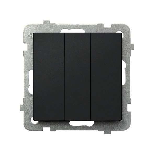 Wyłącznik potrójny Ospel Sonata ŁP-13R/M/33 10AX IP20 czarny metalik