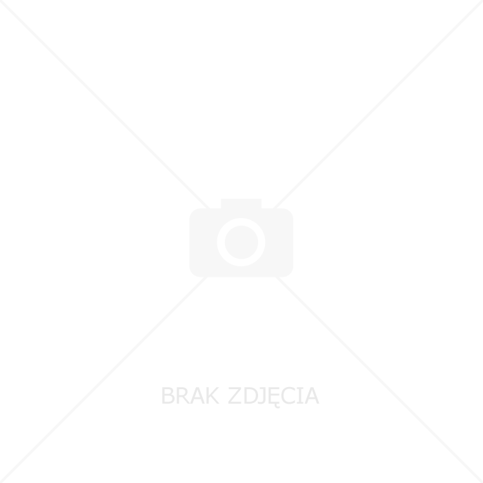 Gniazdo potrójne Ospel Fala GNH-3HZ/00/D hermetyczne z uziemieniem 16A IP44 z klapką przezroczystą białe