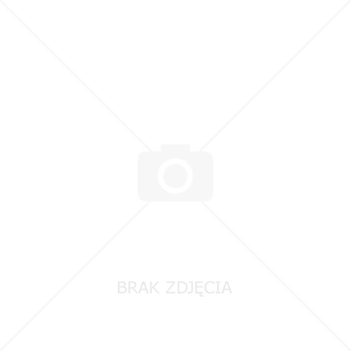 Łącznik świecznikowy Ospel As ŁP-2GS/M/00 podwójny z podświetleniem pomarańczowym bez ramki biały
