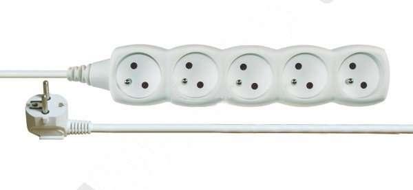 Przedłużacz 1,5m 5-gniazd z/u 10A biały P0511 1902050150 Emos